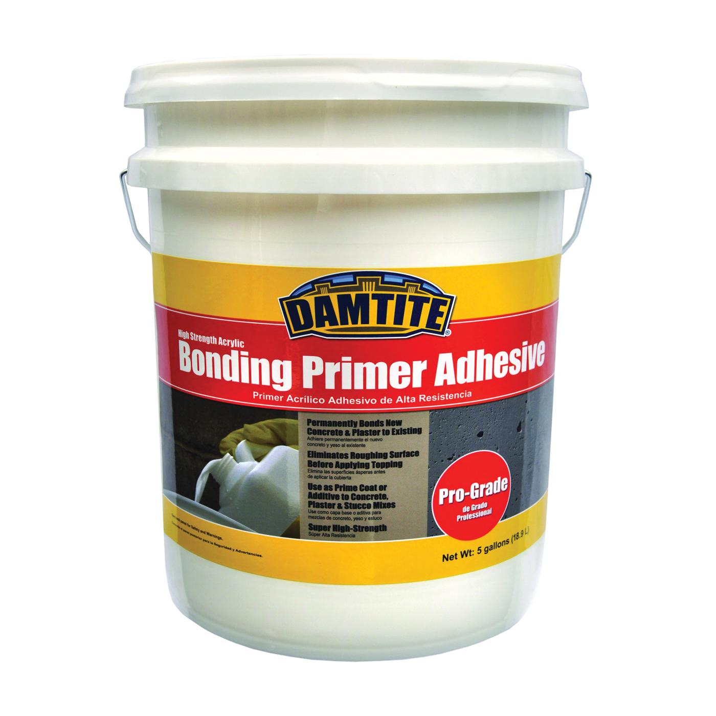 Picture of DAMTITE 05650 Primer Adhesive, Liquid, Ammonia, White, 5 gal Package, Pail