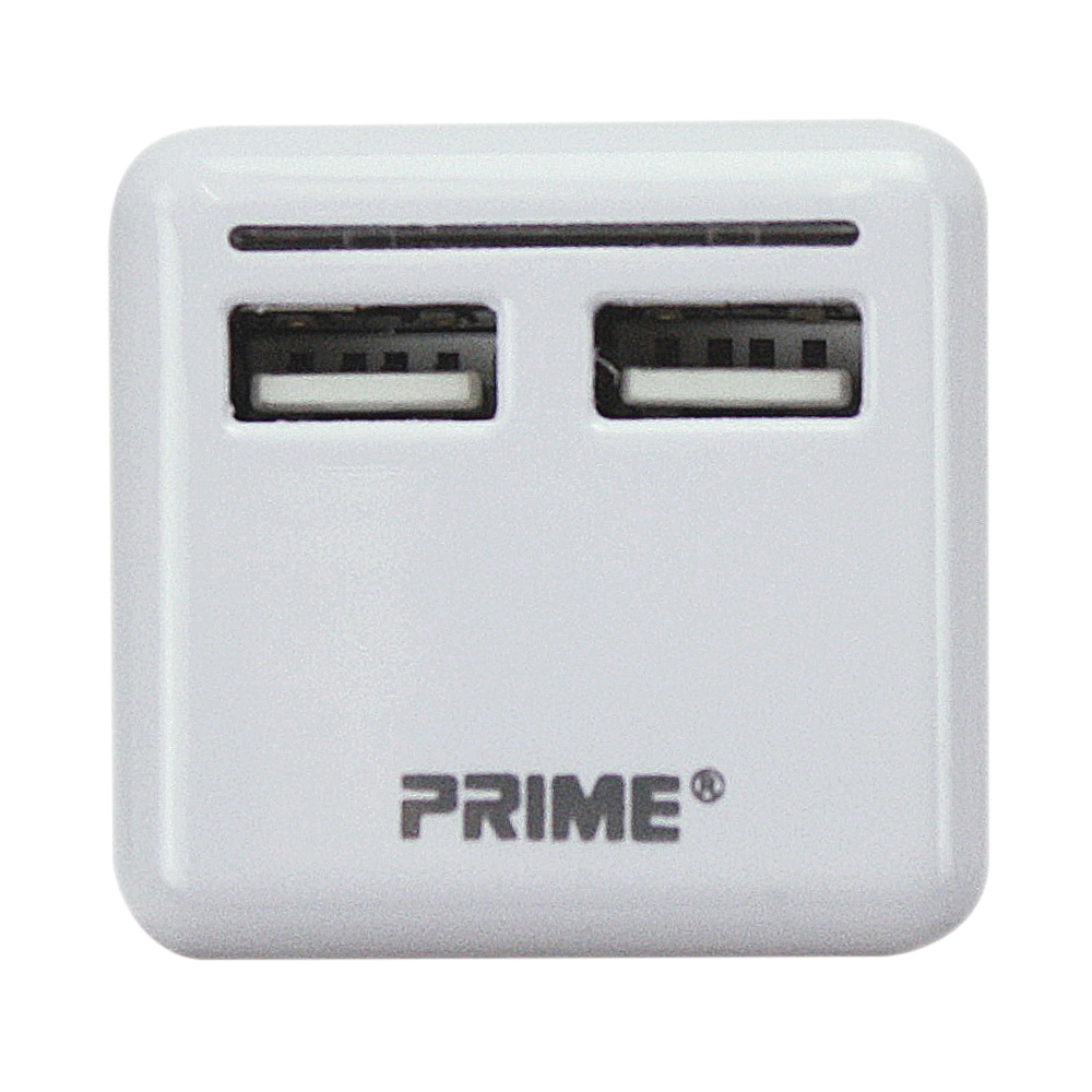Picture of PowerZone ORUSB340 USB Charger with Light, 3.4 A, 2-Outlet