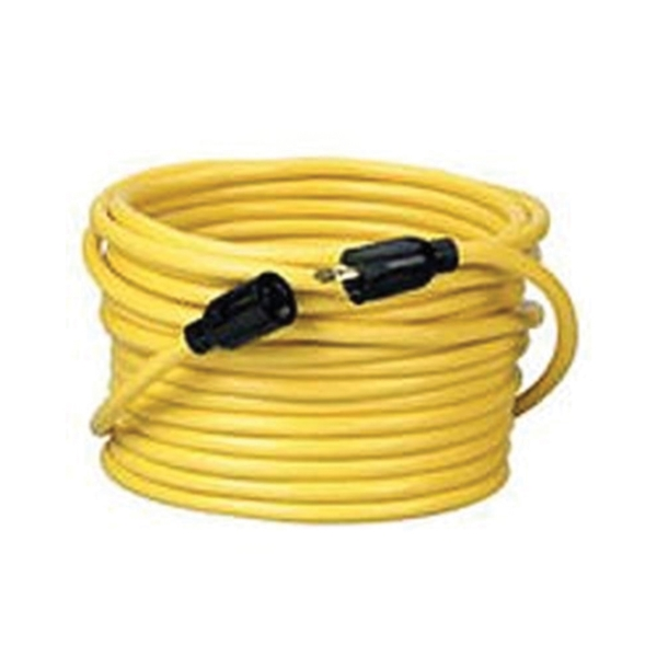 Picture of CCI 090288802 Extension Cord, 12 AWG Cable, 50 ft L, 20 A, 125 V, Bright Yellow Jacket