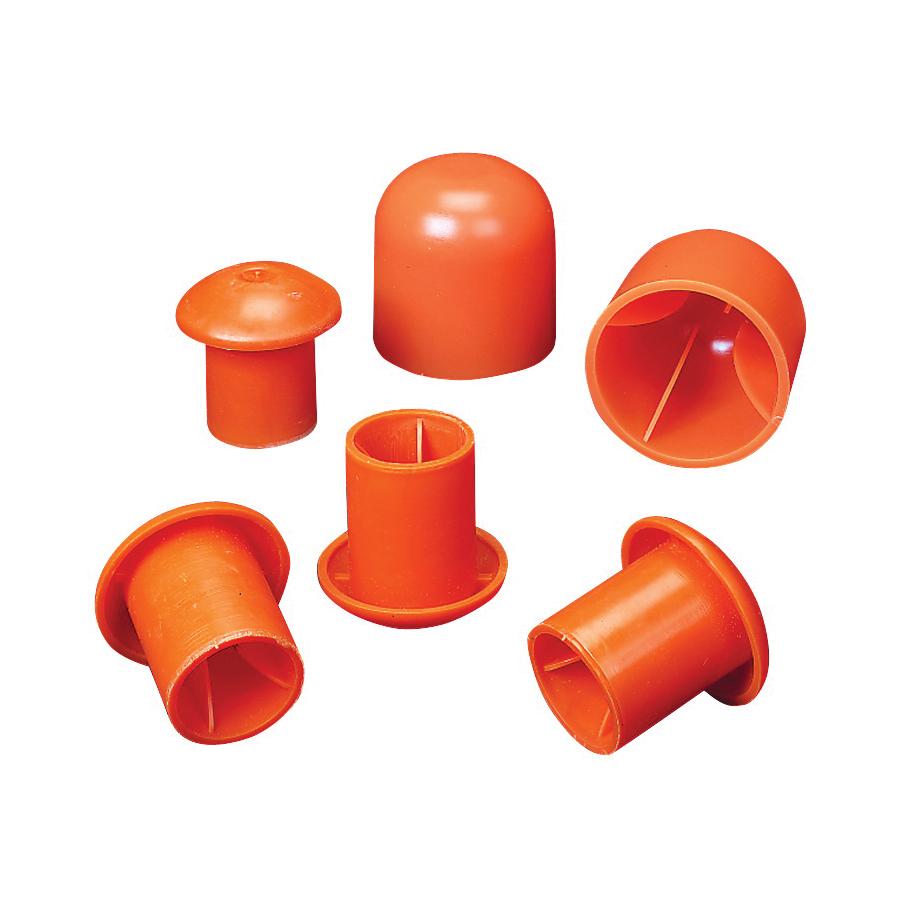 Picture of MUTUAL INDUSTRIES 14640-3 Rebar Cap, #3 to 9 Rebar, Orange