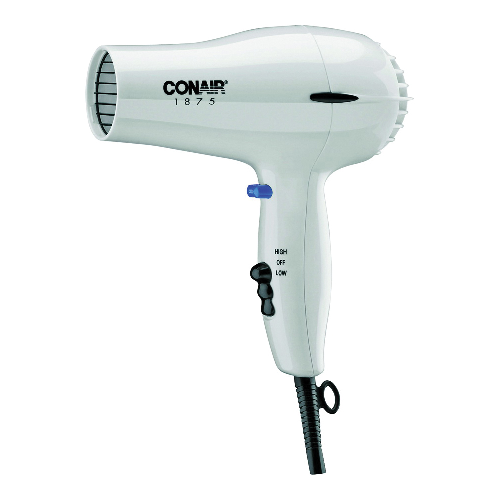 Picture of CONAIR 247 Hair Dryer, Mid-Size, Plastic, White