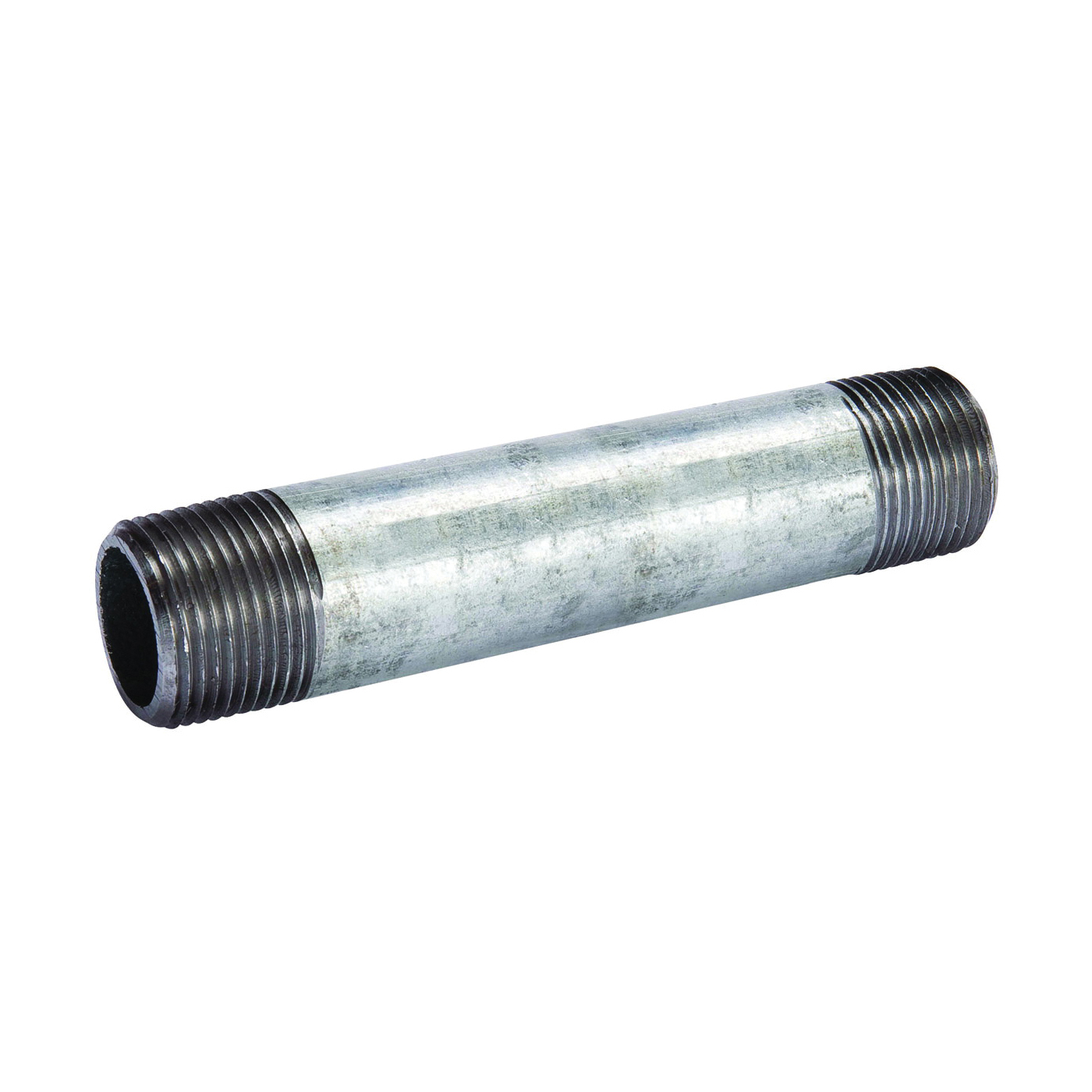 Picture of B & K 571-050BC Pipe Nipple, 4 in, Threaded, Galvanized Steel, SCH 40 Schedule, 5 in L