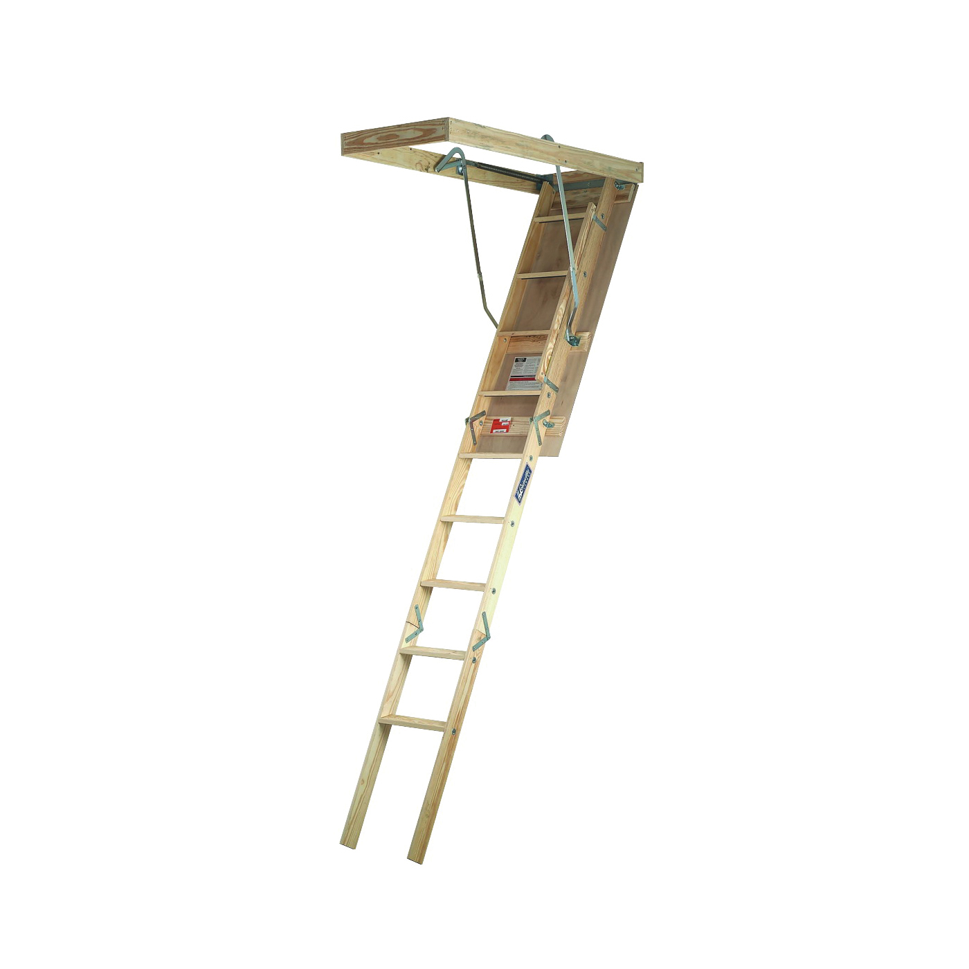 Picture of Louisville Champion Series CS254P Attic Ladder, 7 ft to 8 ft 9 in H Ceiling, 25-1/2 x 54 in Ceiling Opening, 9-Step
