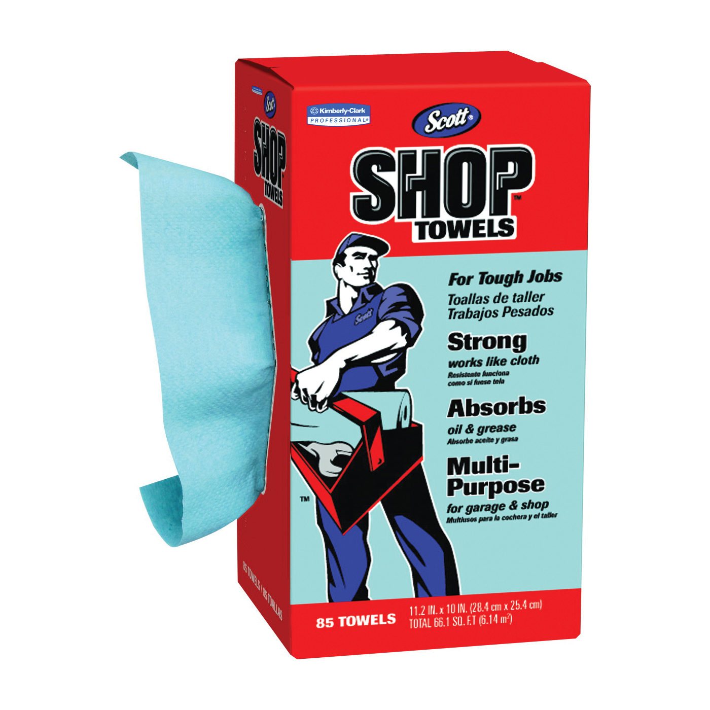 Picture of Scotts 75090 Shop Towels, Blue, 10 in