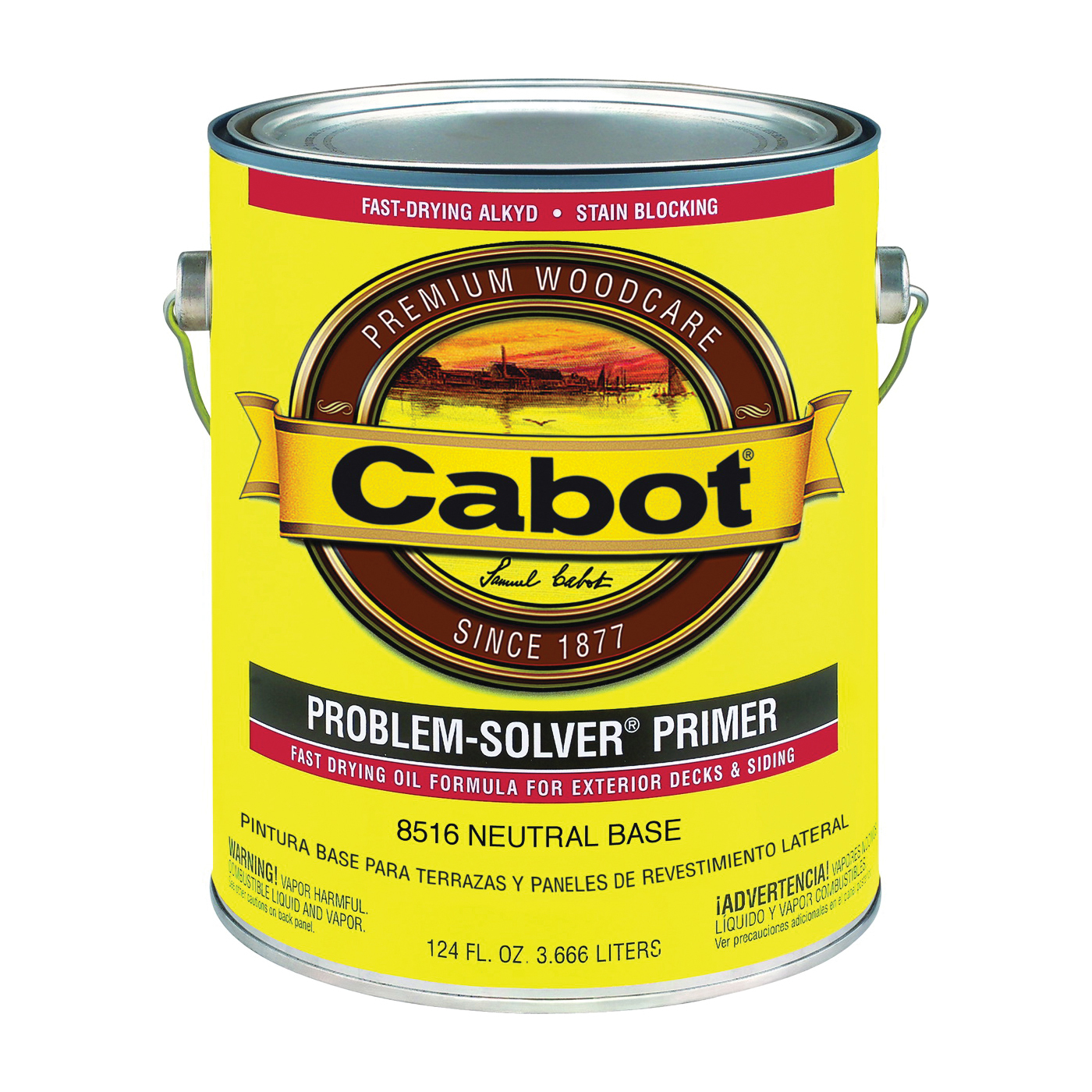 Picture of Cabot Problem-Solver 8516 Exterior Primer, Flat, Neutral, 1 gal
