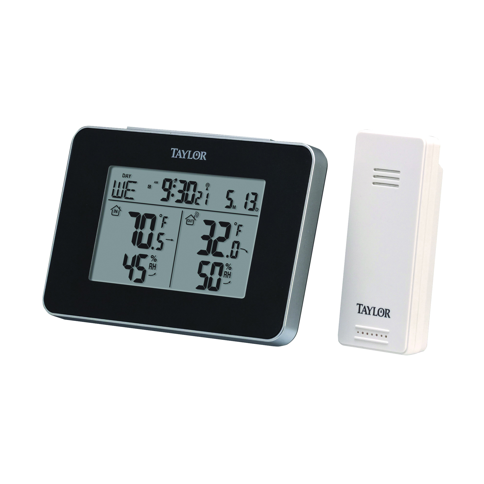 Picture of Taylor 1731 Wireless In/Out Thermometer, 32 to 122 deg F, Plastic Casing