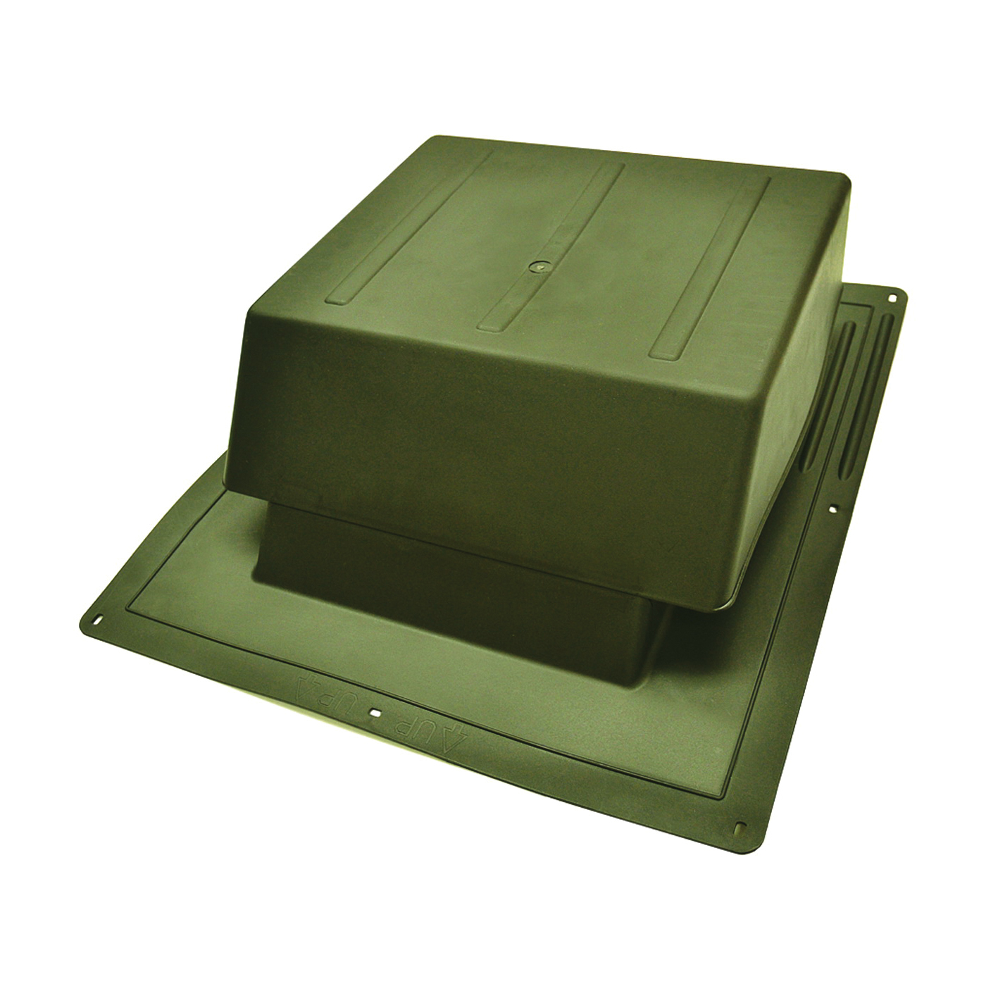Picture of Master Flow IR65WW Roof Louver, 5.88 in L, 18 in W, Resin, Weathered Wood, Bronze