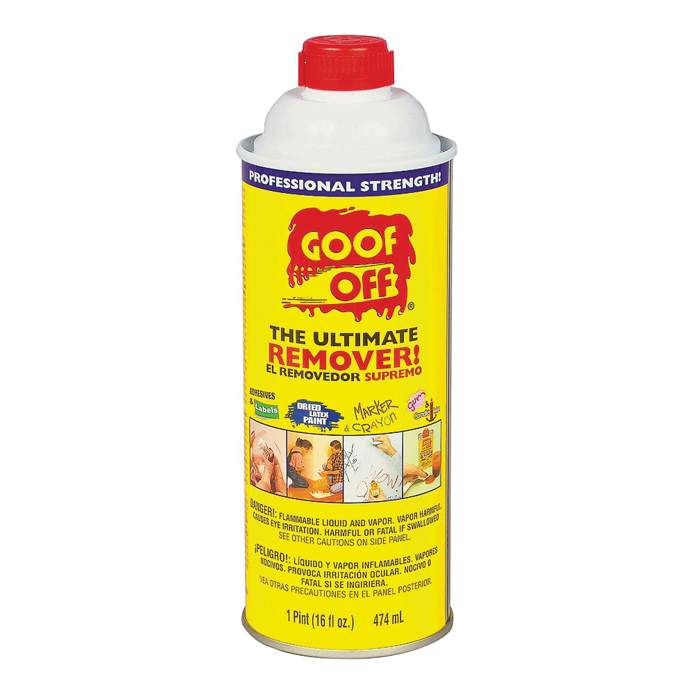 Picture of Goof Off FG653 Adhesive Remover, Liquid, White, 16 oz, Bottle