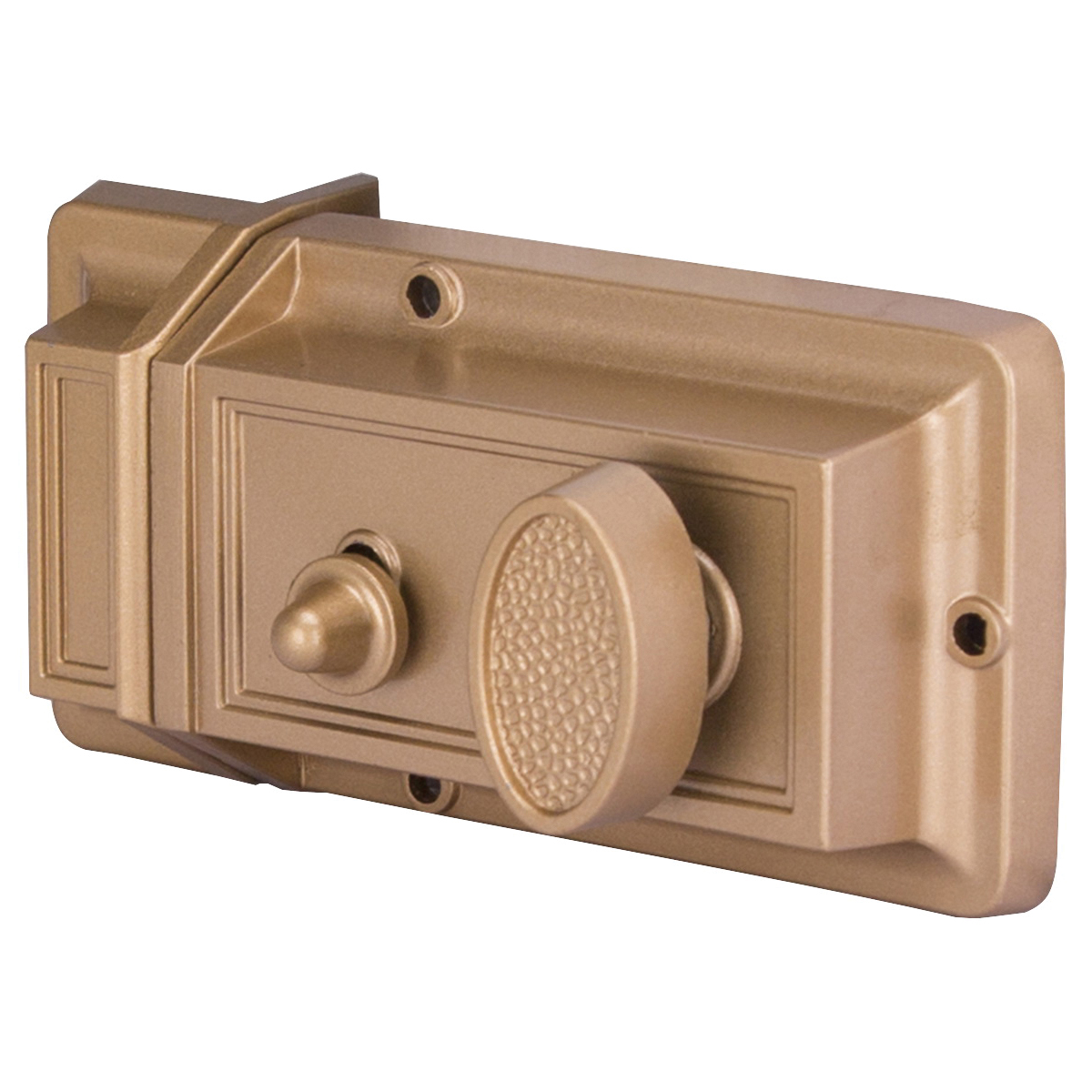 Picture of ProSource 6296453-PS Night Latch, Keyed Different Key, Brass, Kwikset Keyway