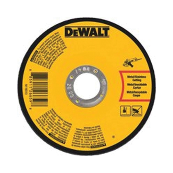 Picture of DeWALT DWA8054 Cutting Wheel, 7 in Dia, 0.045 in Thick, 7/8 in Arbor, Very Fine, Aluminum Oxide Abrasive