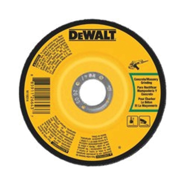 Picture of DeWALT DWA4514CH Grinding Wheel, 7 in Dia, 1/4 in Thick, 5/8-11 in Arbor, 24 Grit, Aluminum Oxide Abrasive