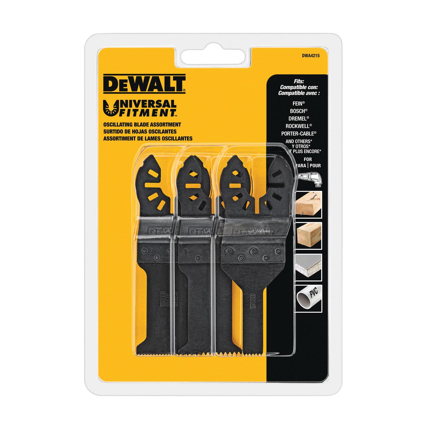 Picture of DeWALT DWA4215 Oscillating Blade Set, Steel