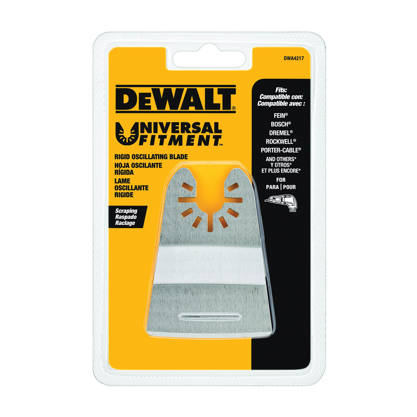 Picture of DeWALT DWA4217 Scraper Blade, 2-3/4 in, Steel