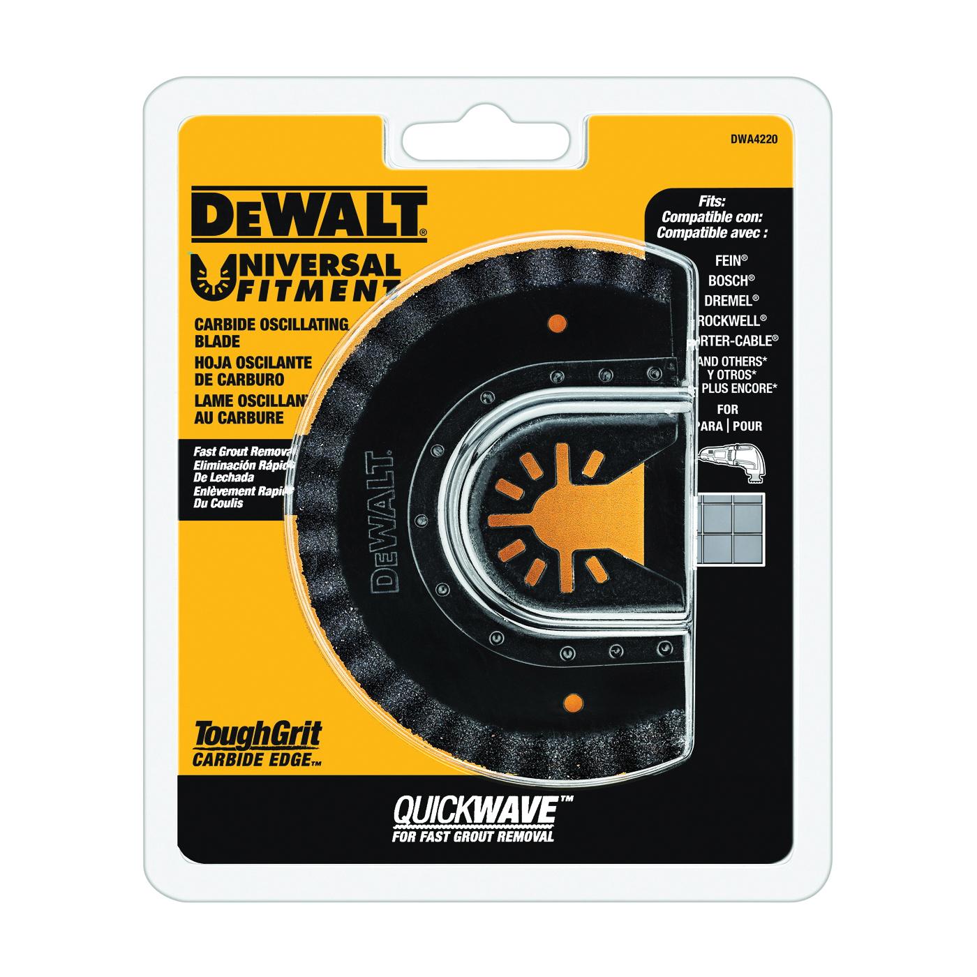 Picture of DeWALT DWA4220 Oscillating Blade, 3-5/8 in, Steel