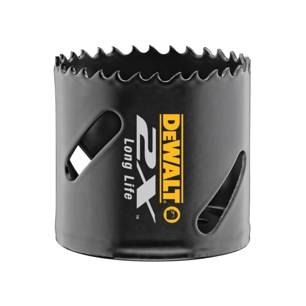 Picture of DeWALT DWA1832 Hole Saw, 2 in Dia, 1-13/16 in D Cutting, 5/8-18 Arbor, 4/5 TPI, 1/4 in Dia x 4 in L Pilot Drill