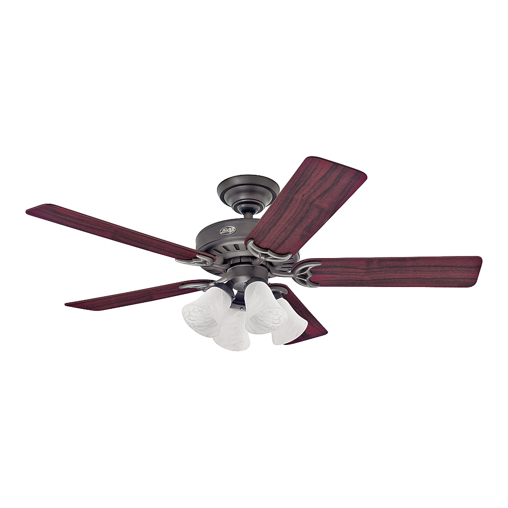 Picture of Hunter 53067/25587 Ceiling Fan, 5-Blade, 52 in Sweep, 4696 cfm Air