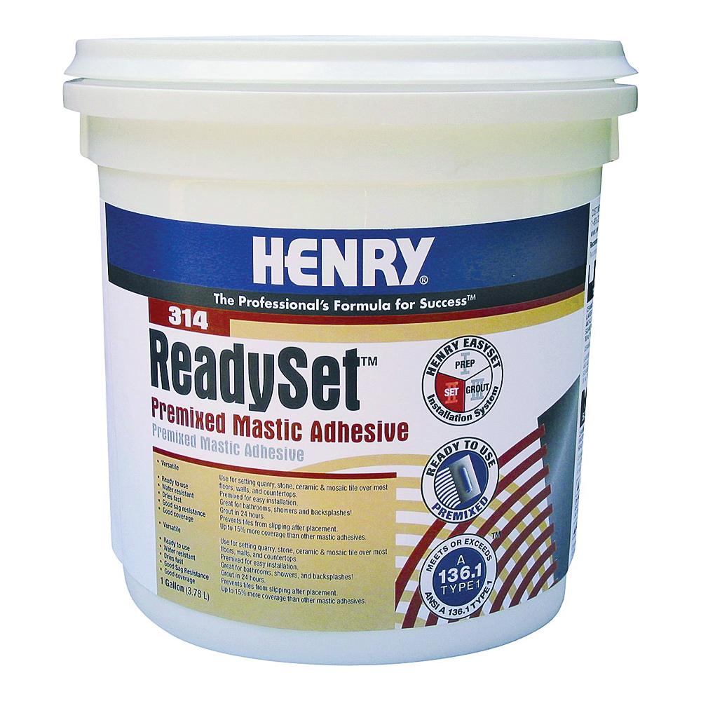 Picture of HENRY 12256 Mastic Adhesive, Off-White, 1 gal Package, Container