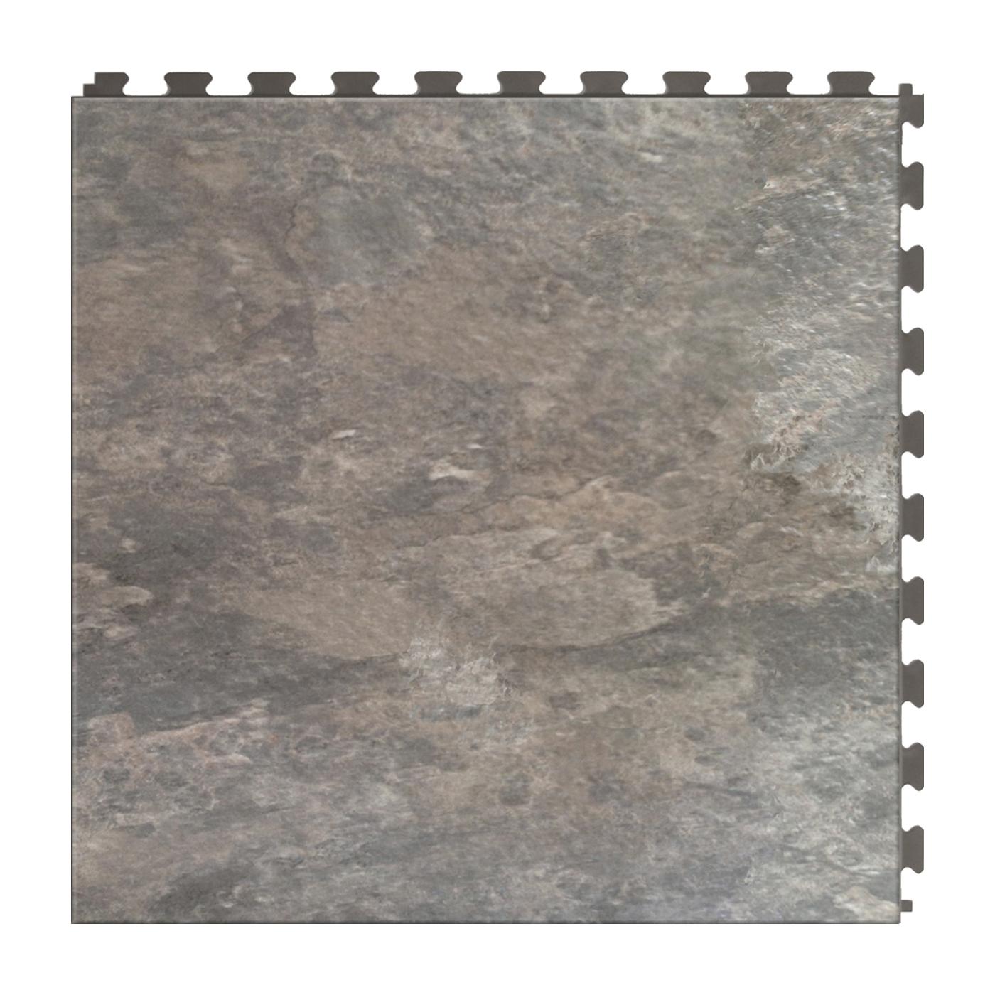 Picture of PERFECTION FLOOR TILE ITNS570AS50 Floor Tile, 20 in L Tile, 20 in W Tile, Granite Pattern, Atlantic Slate