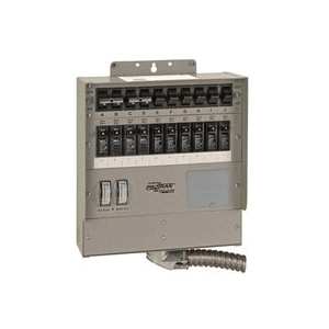 Picture of RELIANCE CONTROLS Pro/Tran 2 Series 510C Transfer Switch, 1-Phase, 50 A, 120 V, 15-Circuit, Surface Mounting