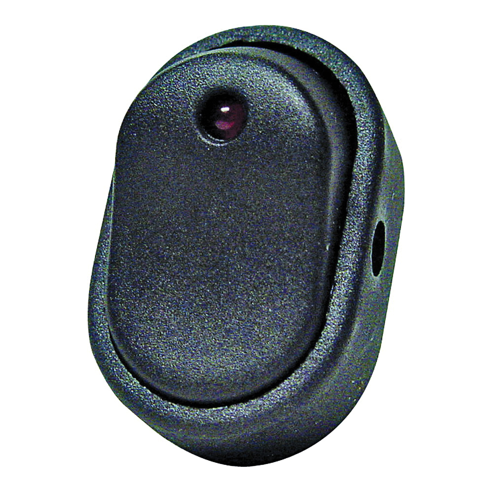 Picture of CALTERM 40393 Rocker Switch, 30 A, 12 V, SPST, Black