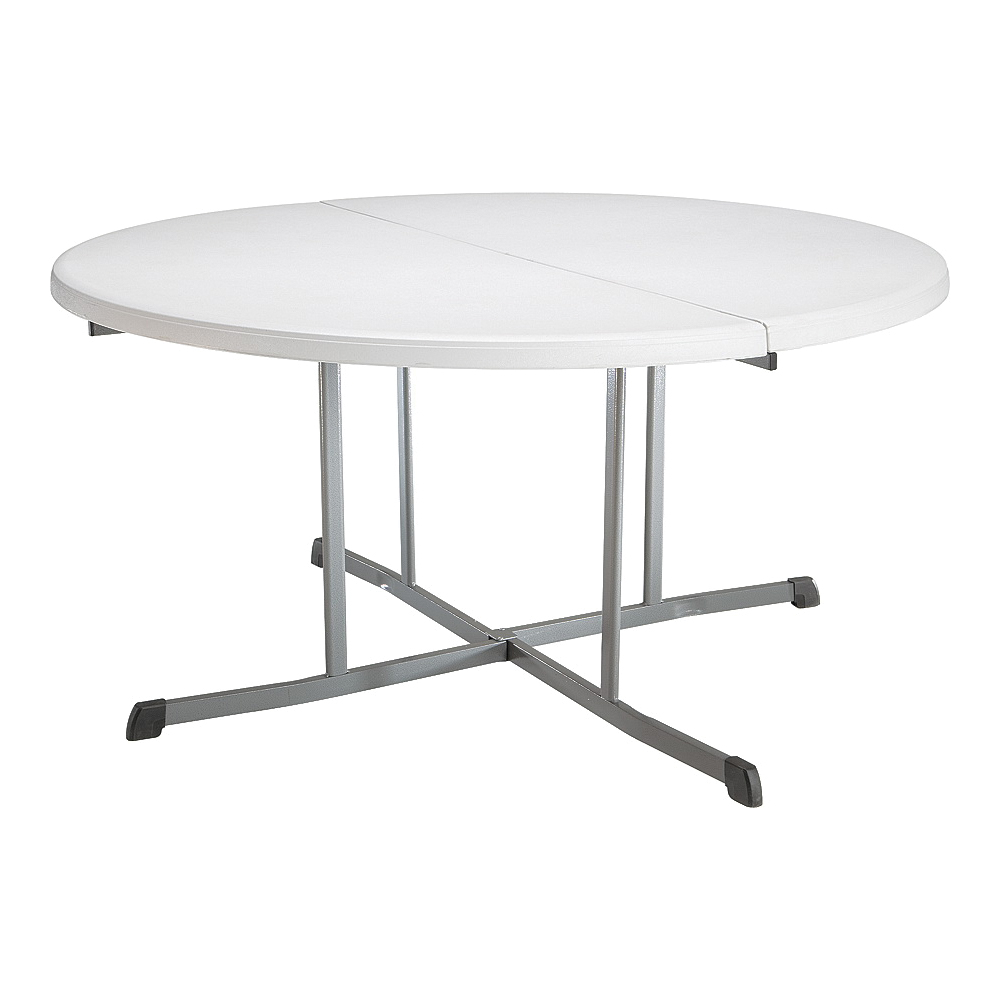 Picture of Lifetime Products 5402 Fold-in-Half Table, Steel Frame, Polyethylene Tabletop, Gray/White