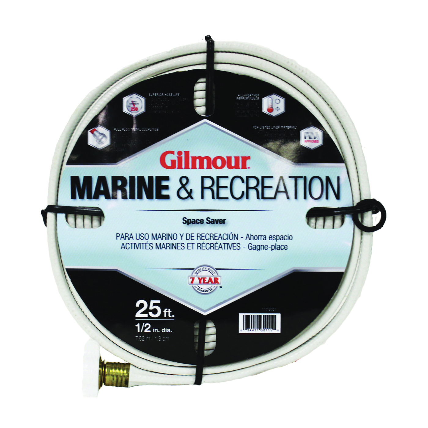 Picture of Gilmour 884251-1001 Safe Hose, 1/2 in ID, 25 ft L, White