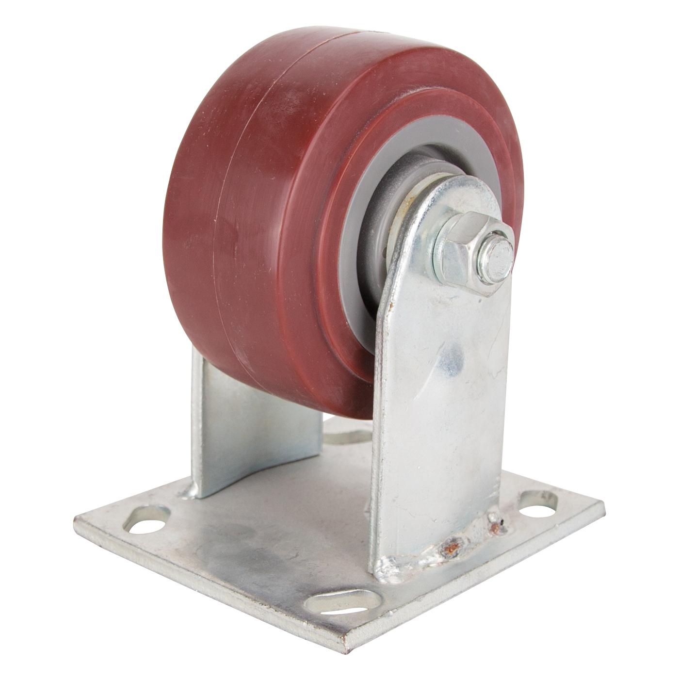 Picture of ProSource JC-P01 Rigid Caster, 4 in Dia Wheel, 2 in W Wheel, Polyurethane Wheel, 350 lb