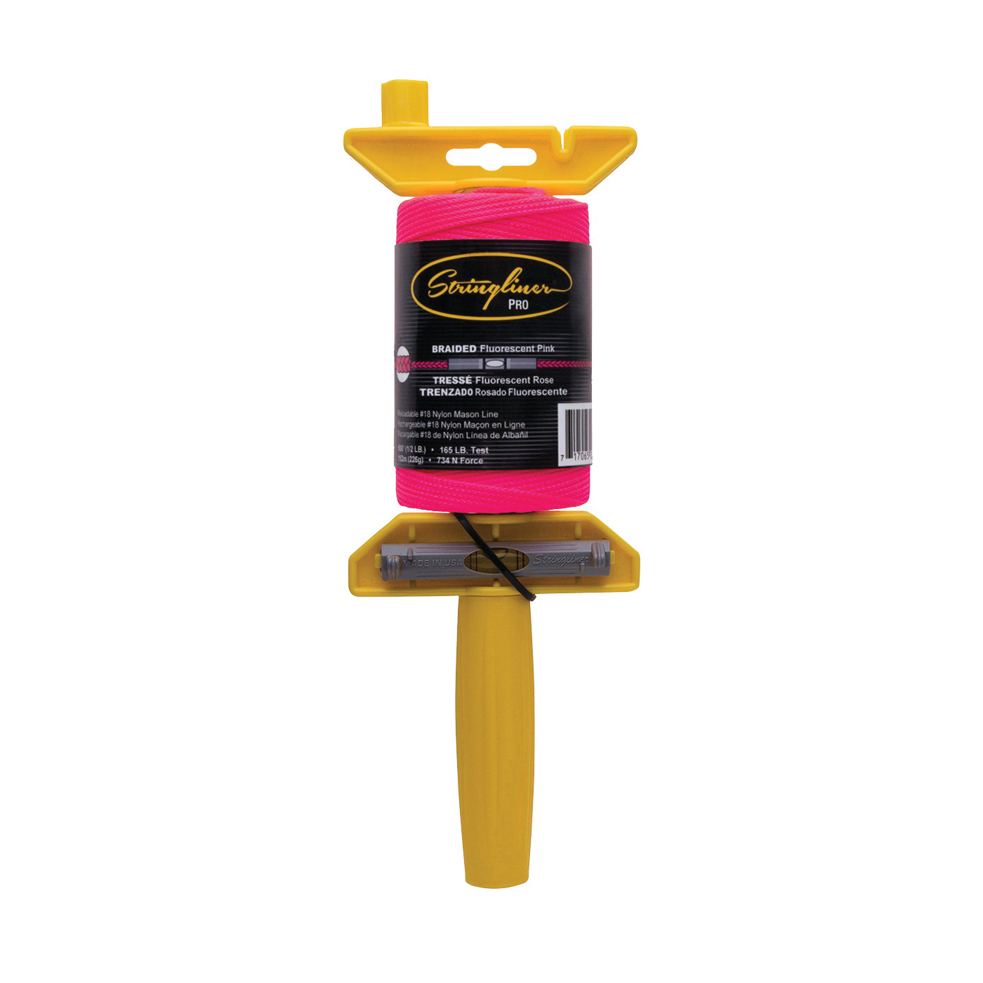 Picture of Stringliner 24462 Line Reel, 500 ft L Line, Fluorescent Pink Line
