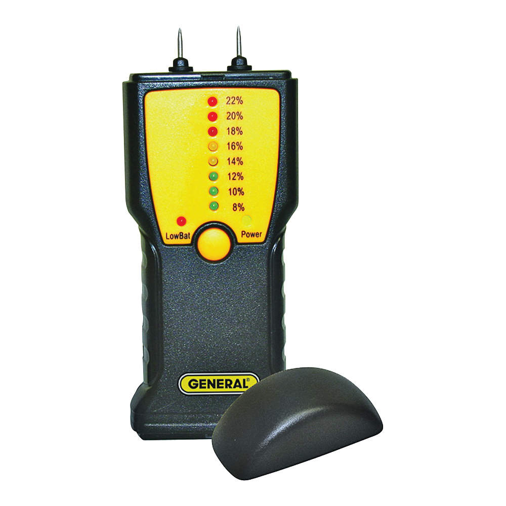 Picture of GENERAL MM1E Moisture Meter, 7 to 15% WME Low, 16 to 35% WME High, 0.1 % Accuracy, LED Display