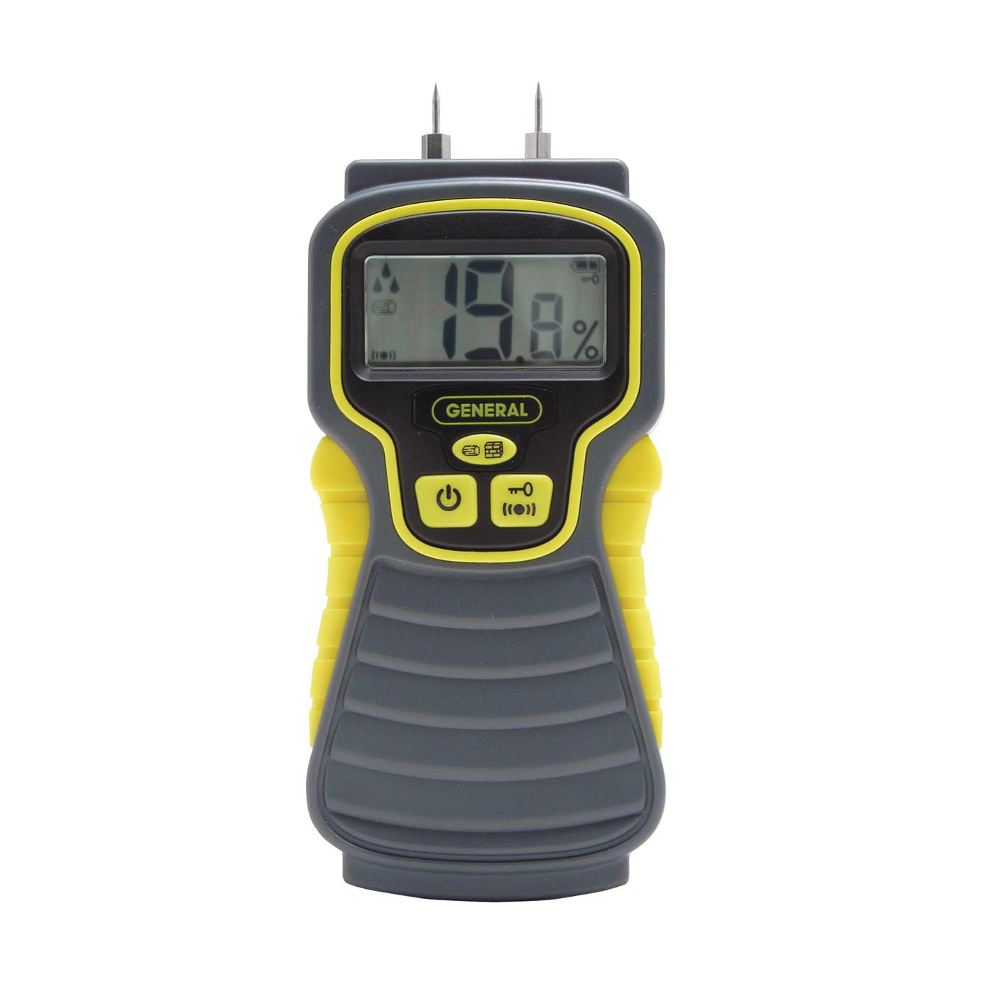 Picture of GENERAL MMD4E Moisture Meter, 5 to 50% Wood, 1.5 to 33% Building Materials, 0.1 % Accuracy, LCD Display