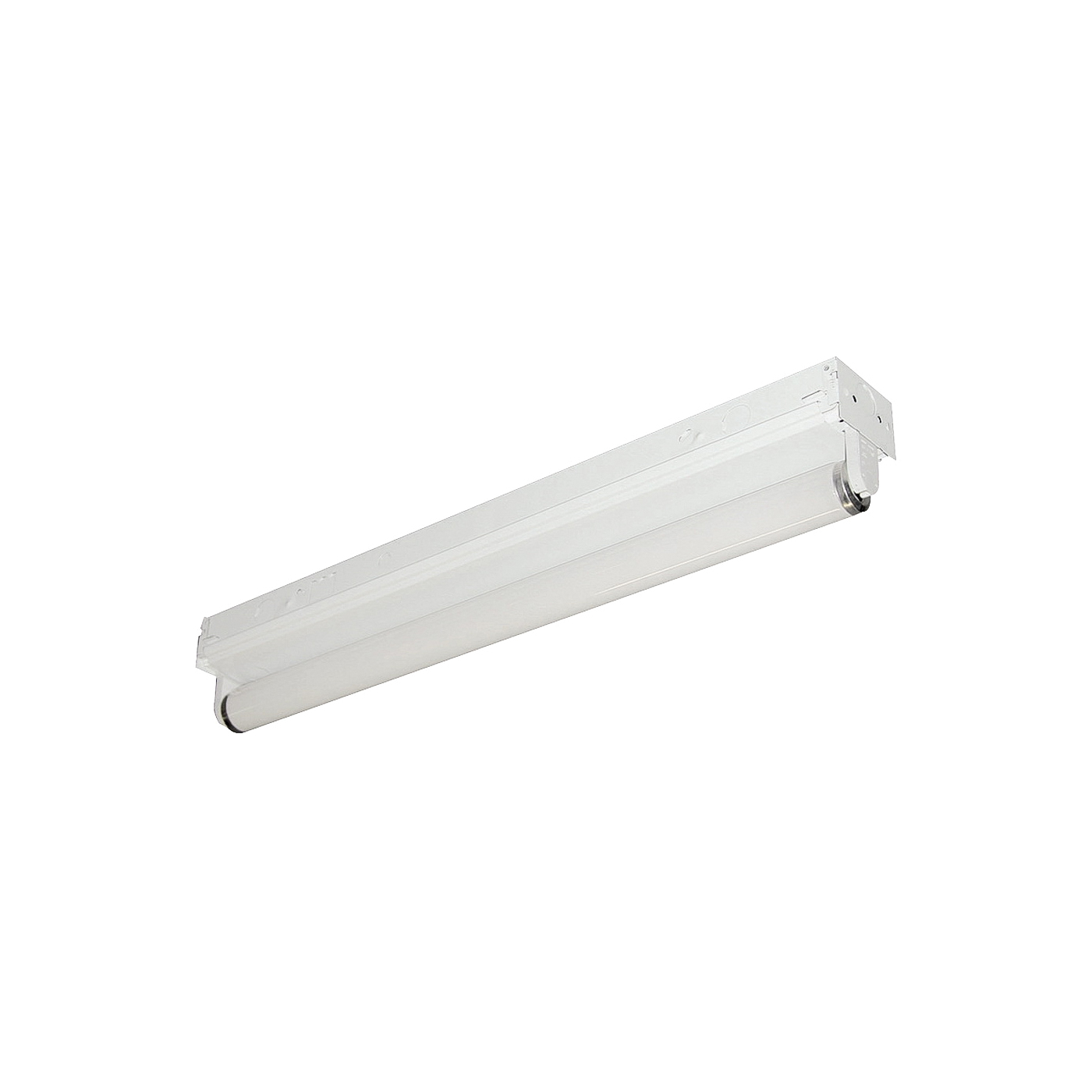 Picture of LITHONIA LIGHTING 208GJ4 Strip Light, 120 V, 1-Lamp, Steel Fixture, White Fixture, Gloss Fixture