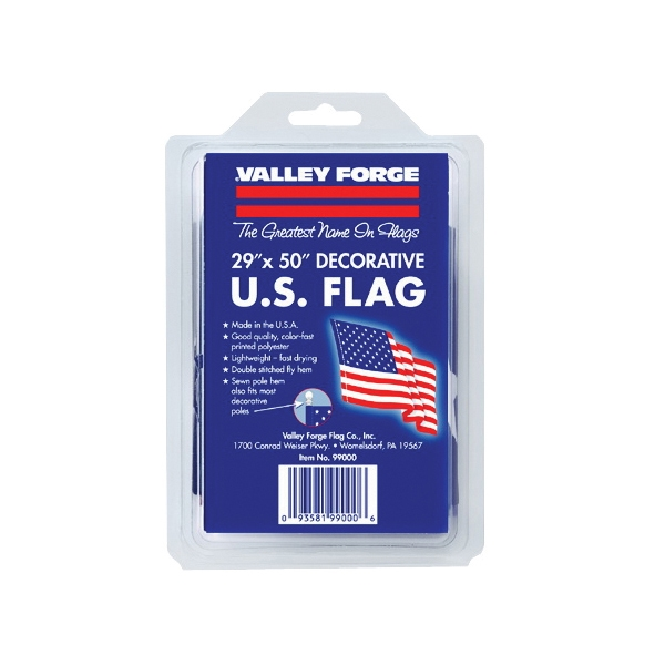 Picture of Valley Forge 99000-1 USA Flag, 2-1/2 ft W, 4 ft H, Polycotton