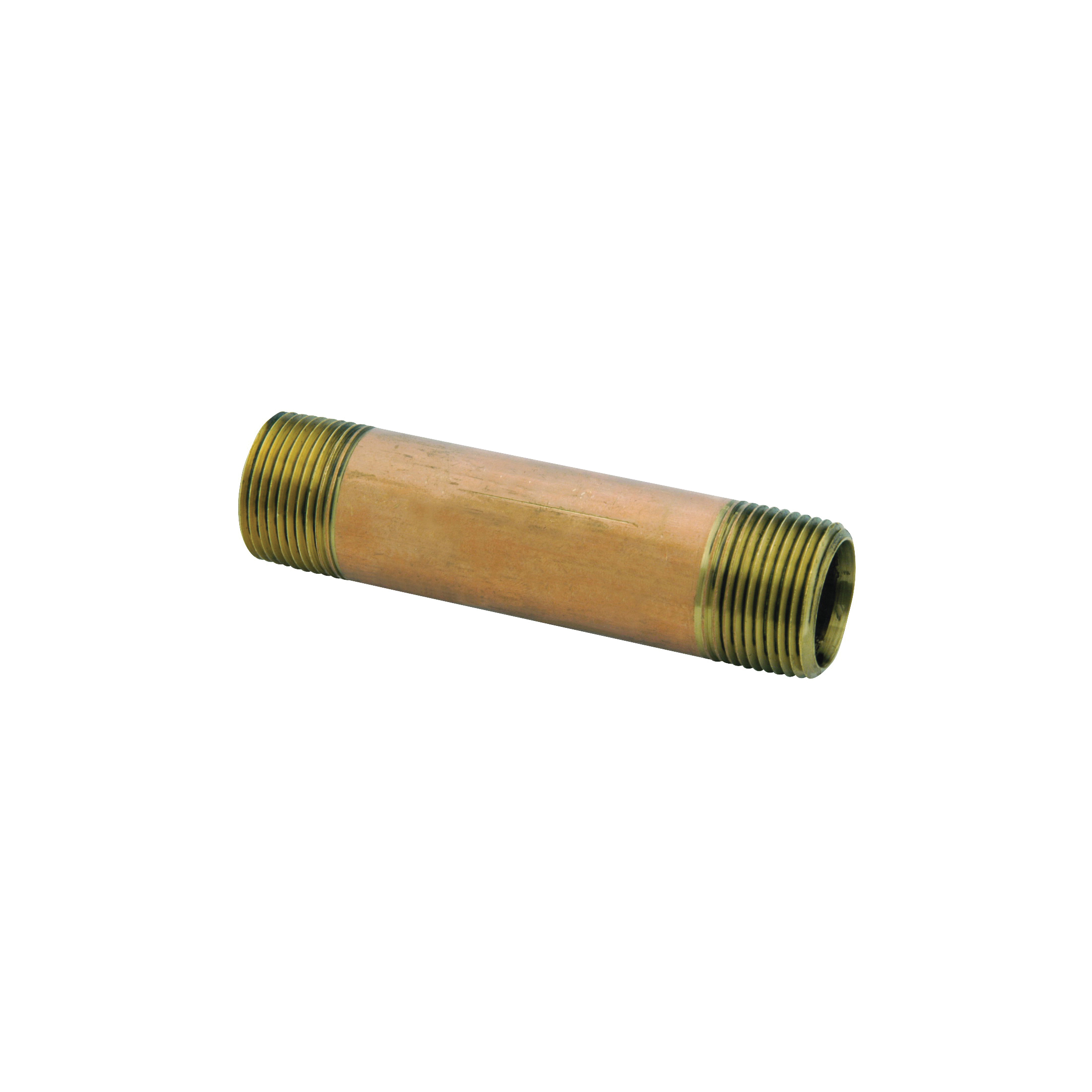 Picture of Anderson Metals 38300-0440 Pipe Nipple, 1/4 in, NPT, Brass, SCH 40 Schedule, 870 psi Pressure, 4 in L