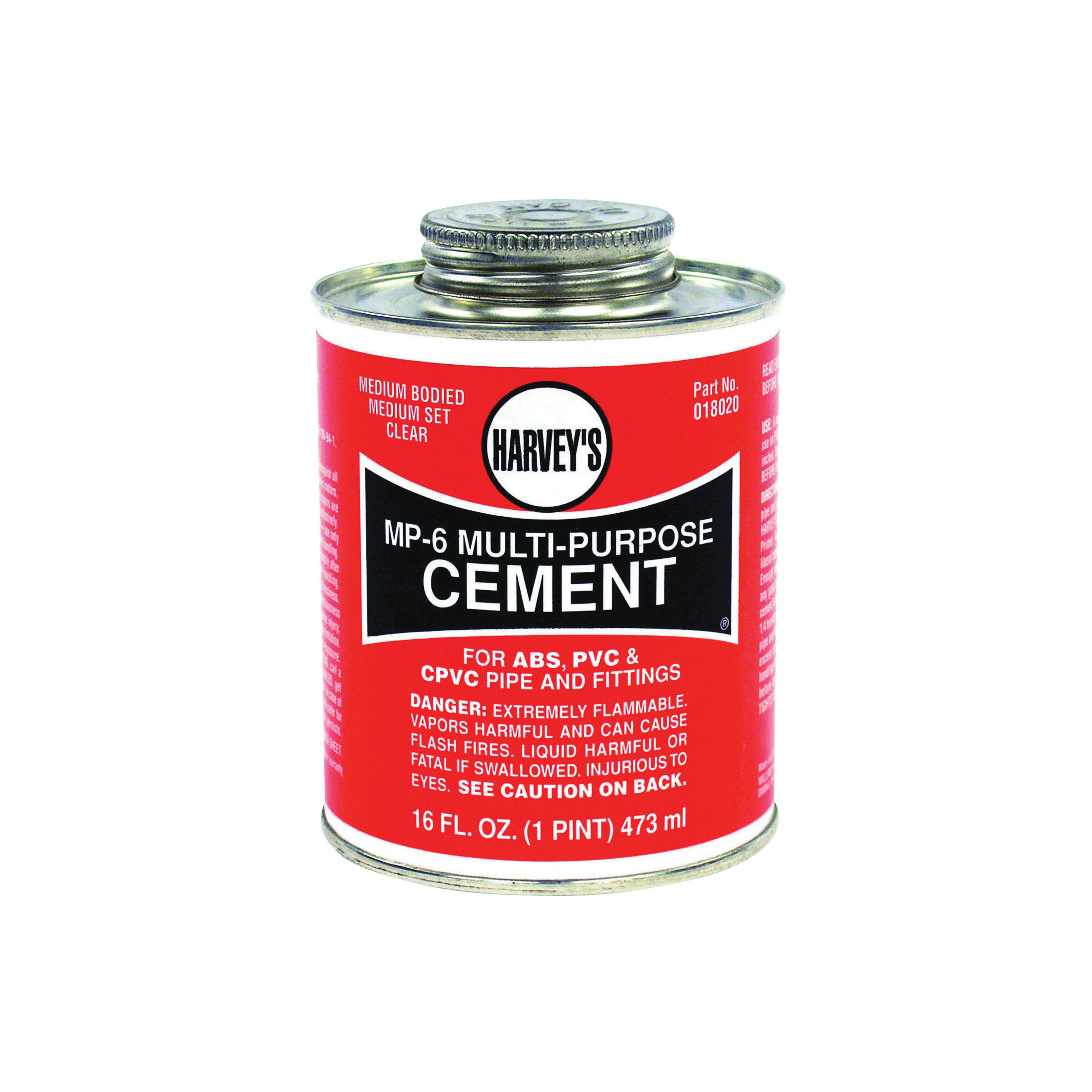 Picture of HARVEY 018020-12 Solvent Cement, 16 oz, Can, Liquid, Milky Clear
