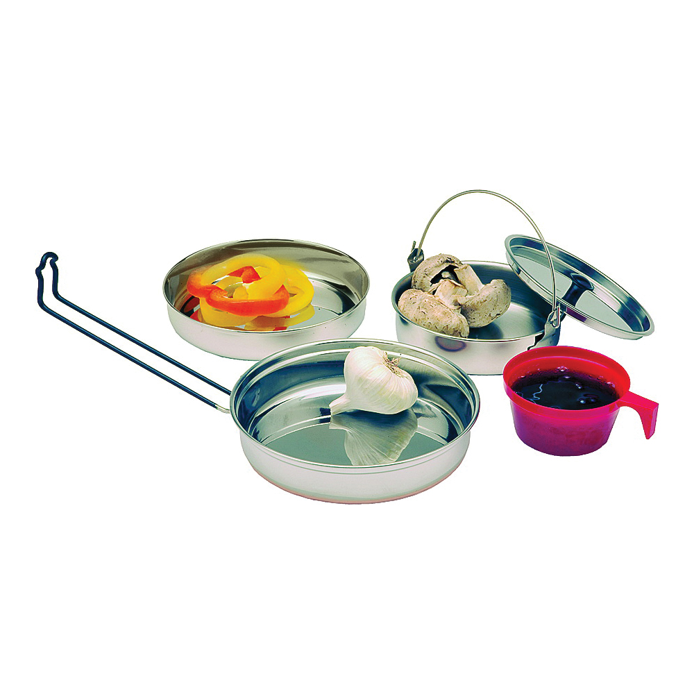 Picture of Texsport 13156 Mess Kit, Stainless Steel