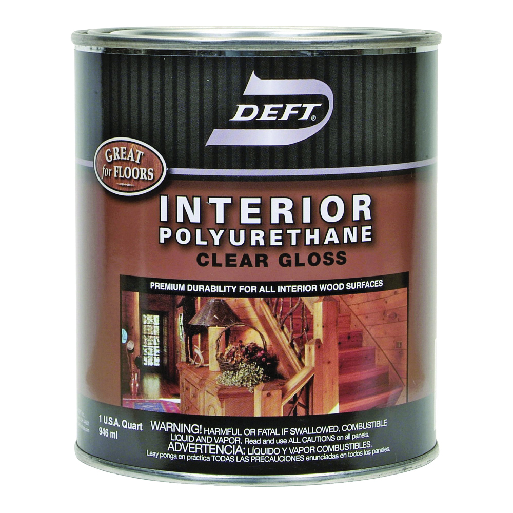 Picture of DEFT 221-04 Polyurethane Paint, Gloss, Liquid, Amber, 1 qt, Can