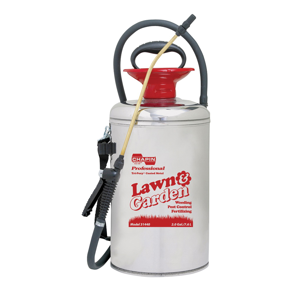 Picture of CHAPIN Lawn & Garden Series 31440 Compression Sprayer, 2 gal Tank, Stainless Steel Tank, 42 in L Hose
