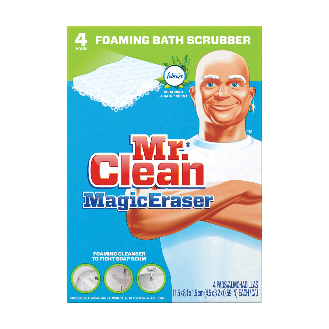 Picture of PROCTER & GAMBLE 51099 Bathroom Scrubber, 4.6 in L, 3.2 in W