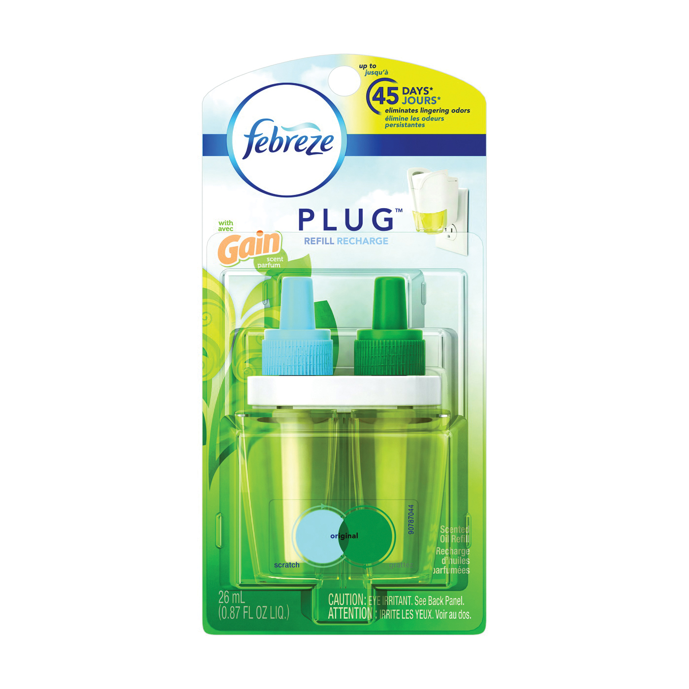 Picture of febreze 32008 Noticeables Air Freshener, 0.87 oz Package, Refill, Scented
