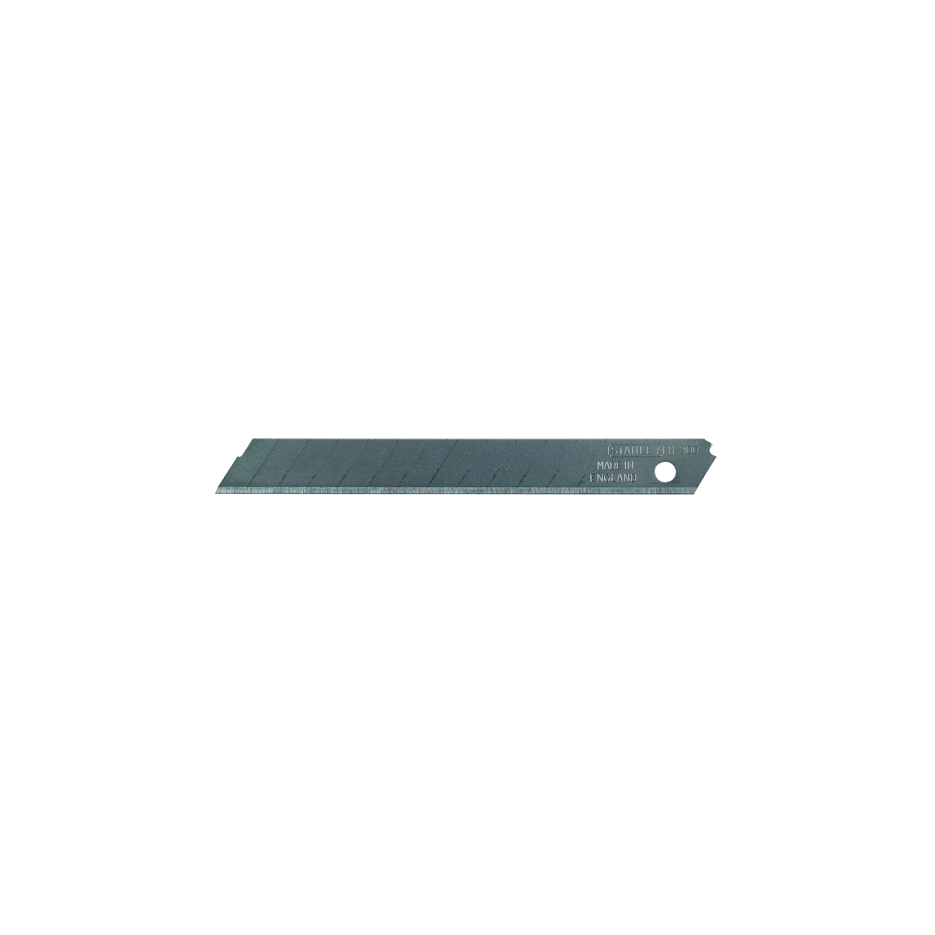 Picture of STANLEY 11-300 Replacement Blade, 9 mm, 3-1/4 in L, Carbon Steel, 13 -Point, 3/PK, Carded