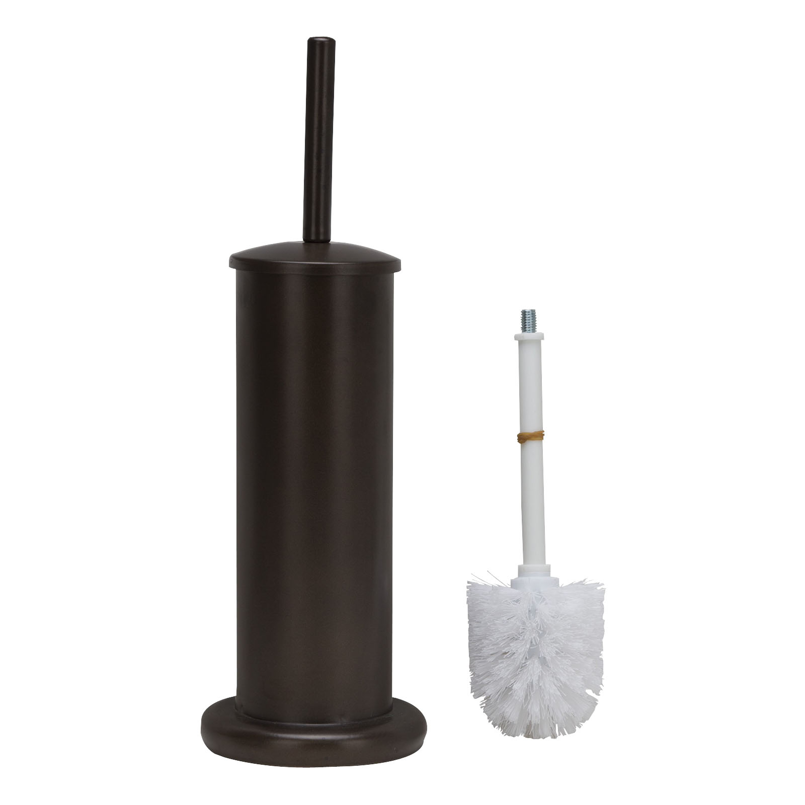Picture of Simple Spaces MYY004 Toilet Bowl Brush with Stand, Round, Steel Holder
