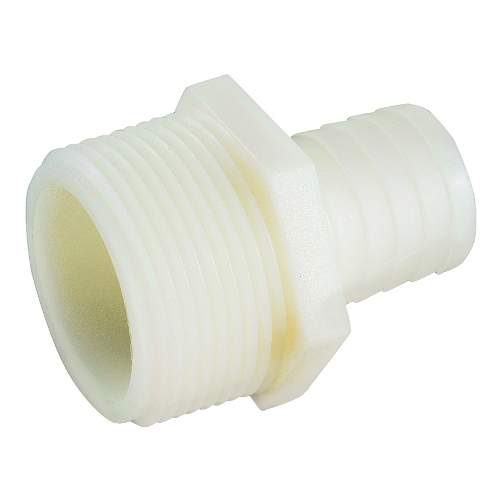 Picture of Anderson Metals 53701-0404 Connector, 1/4 x 1/4 in, MIP x Barb, Nylon