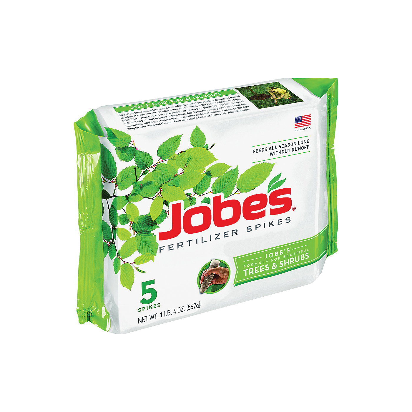 Picture of Jobes 01000 Fertilizer Spike, Spike, Gray/Light Brown, Slight Ammonia, 4 lb Package, Pack