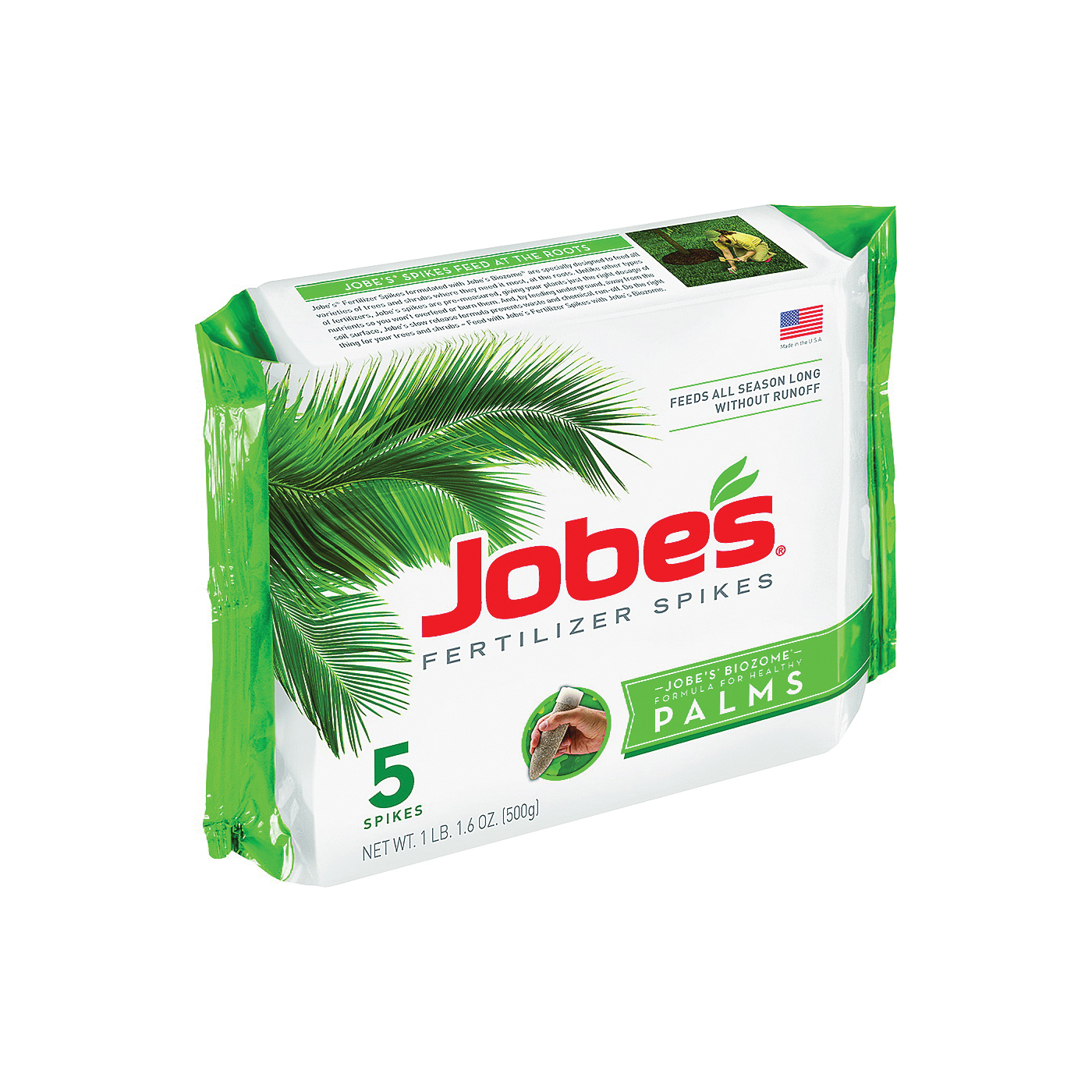 Picture of Jobes 01010 Fertilizer Spike Pack, Spike, Gray/Light Brown, Odorless, Pack