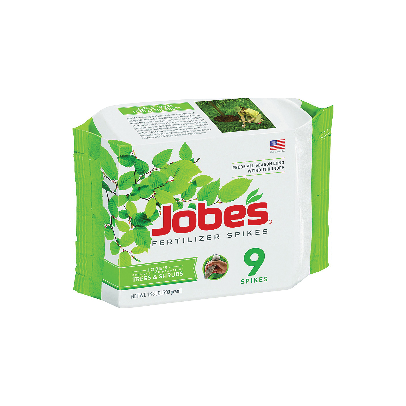Picture of Jobes 01310 Fertilizer Spike, Spike, Gray/Light Brown, Slight Ammonia, 4 lb Package, Pack