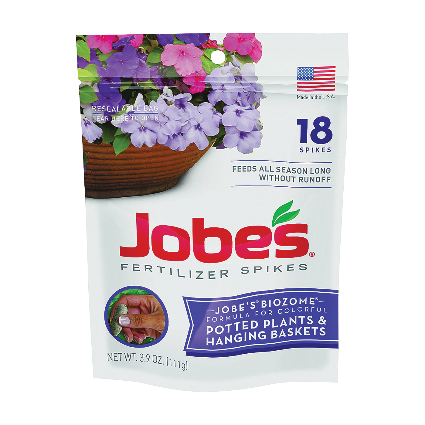 Picture of Jobes 06105 Fertilizer Spike Pouch, Spike, Brown, Slight Ammonia, Pouch