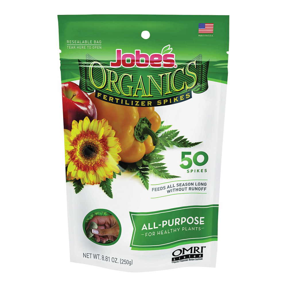 Picture of Jobes 06528 Fertilizer Spike Pack, Spike, Yellowish Brown, Organic, Pack