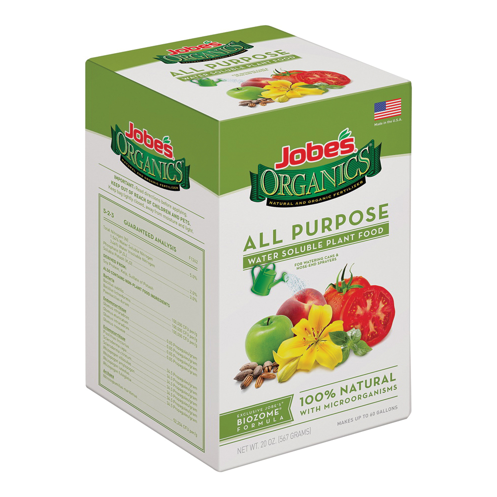 Picture of Jobes 08252 All-Purpose Fertilizer, Powder, 20 oz Package, Box