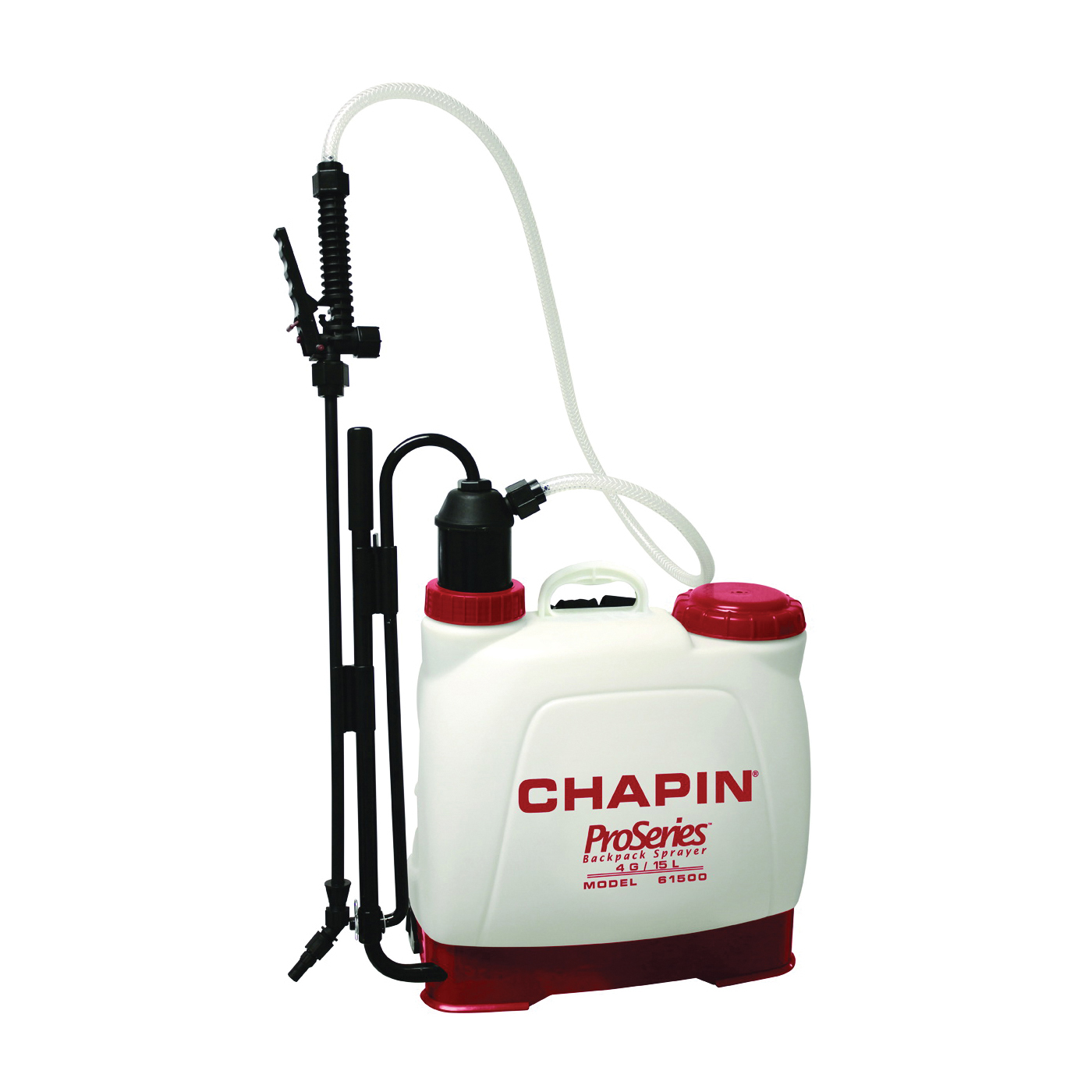 Picture of CHAPIN Euro Style 61500 Backpack Sprayer, 4 gal Tank, Poly Tank, 25 ft Horizontal, 23 ft Vertical Spray Range