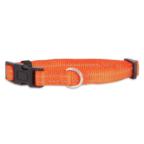 Picture of PETMATE 0301953 Adjustable Dog Collar, 8 to 12 in L Collar, 3/8 in W Collar, Nylon, Orange